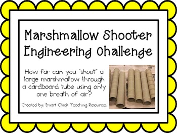 Marshmallow Shooter: Engineering Challenge Project ~ Great STEM Activity!
