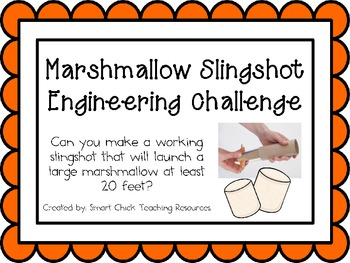 Marshmallow Slingshot: Engineering Challenge Project ~ Great STEM Activity!