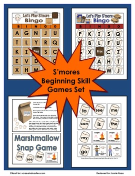S'mores Camping Themed Game Set for Kindergarten