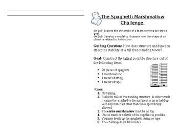 Marshmallow Spaghetti Challenge