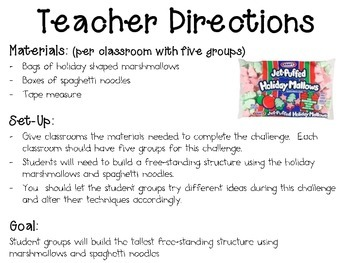 Marshmallow Structures ~ Monthly School-wide Science Challenge ~ STEM