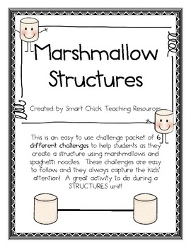 Marshmallow Structures Packet ~ A Set of 6 Structure Challenges!