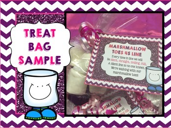 Marshmallow Toes 4S Line -- Poster & Treat Bag Tags