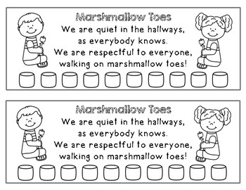 Marshmallow Toes - A Back-to-School Classic for Teaching Hallway Behavior