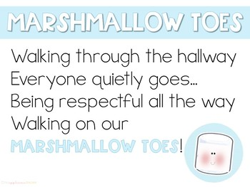 Marshmallow Toes- A line Walking Activity