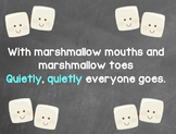 Hallway marshmallow toes poster
