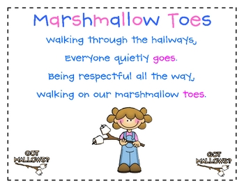 Marshmallow Toes poetry activity {FREE}