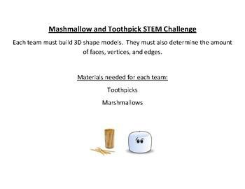 Marshmallow & Toothpick 3D STEM Challenge