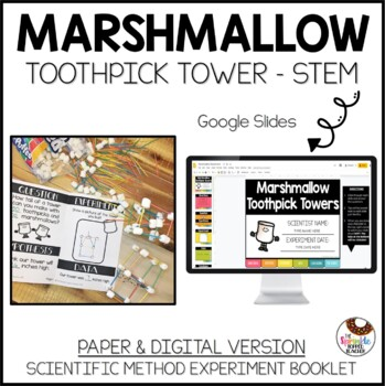 Marshmallow Toothpick Tower Science Experiment with the Scientific Method