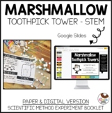 Marshmallow Toothpick Tower Science Experiment