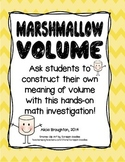 Marshmallow Volume - A Hands on Math Activity