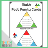 Math Fact Family Cards
