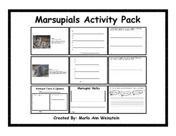Marsupials Activity Pack
