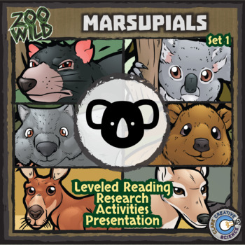 Marsupials - Set 1 - Reading & Activities - Distance Learning Compatible