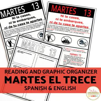 Spanish Cultural Reading Activities for Martes el Trece