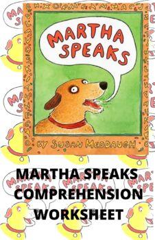 Martha Speaks Comprehension Worksheet