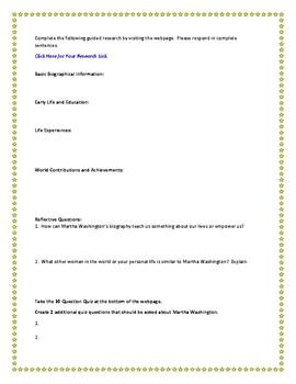 Martha Washington Internet Research Guide