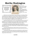 Martha Washington Reading Passage and Activity