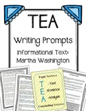 Martha Washington / TEA Paragraph / Writing Prompts
