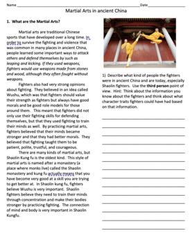 Martial Arts in Ancient China