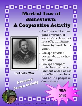 Martial Law at Jamestown: A Primary Source Cooperative Activity