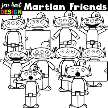 Martian Friends Clipart