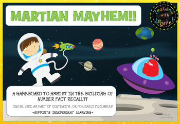 Martian Mayhem Addition Facts Boardgame Free