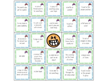 Martian Multiple Meanings: Nouns vs. Verbs {Printable Game}
