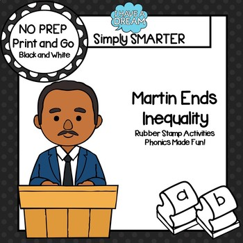 Martin Ends Equality:  NO PREP Ending Sounds Rubber Stamping Activities