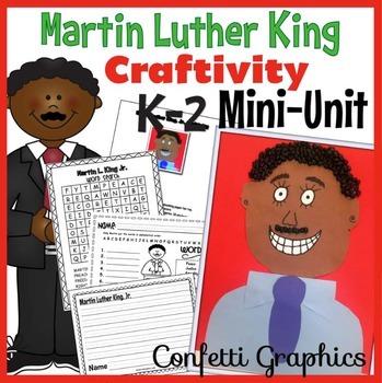 Martin L. King MLK Craftivity Craft Activity Black History