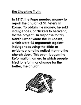 Martin Luther 95 Theses - Introduction Activity