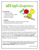 Martin Luther Apple Experiment Data Sheets