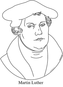 Martin Luther Clip Art, Coloring Page, or Mini-Poster