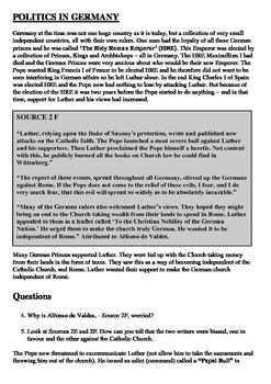 Martin Luther Comprehension and Questions