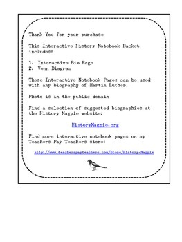 Martin Luther Interactive History Notebook Pages