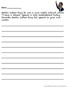 Martin luther king jr essay topics