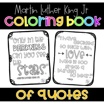 Martin Luther Kin Jr Quotes Coloring Pages
