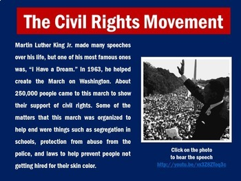 Martin Luther King Activity | Martin Luther King PowerPoint