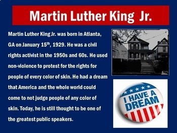 Martin Luther King PowerPoint   Martin Luther King Power Point