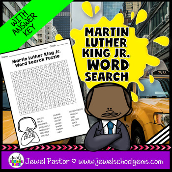 Martin Luther King Jr Word Search Teaching Resources Teachers Pay