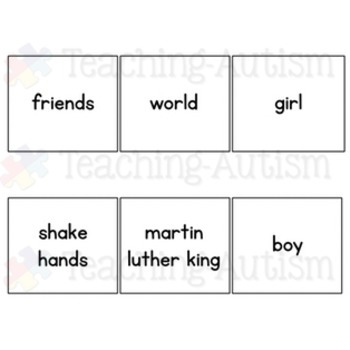 Martin Luther King Word Picture Matching