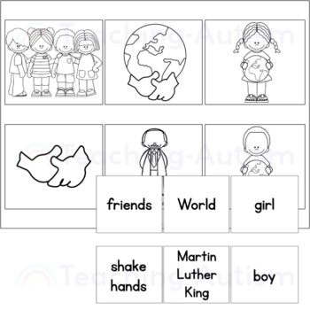 Free Martin Luther King Word Picture Matching MLK