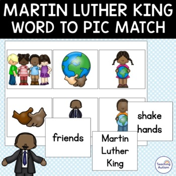 Free Martin Luther King Jr Word Picture Matching MLK