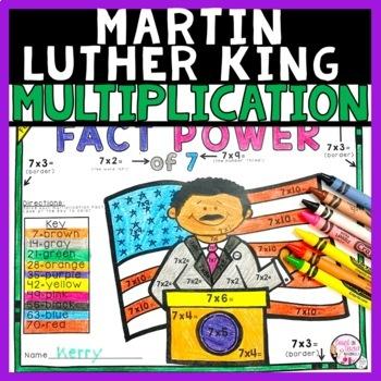 Martin Luther King Jr Multiplication Math