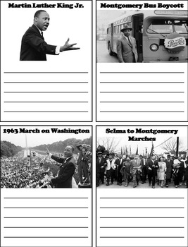 Black History Month Unit: Martin Luther King Interactive Notebook Foldable