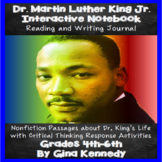 Martin Luther King Reading and Writing Interactive Notebook Journal