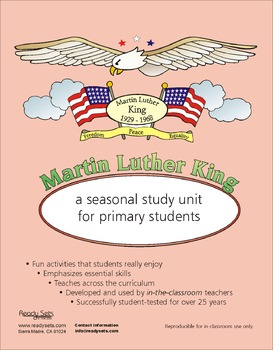 Martin Luther King 32-Page Thematic Lesson Plans Booklet