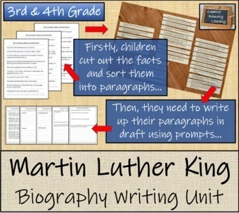 Martin Luther King - 3rd & 4th Grade Biography Writing Activity
