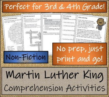 Martin Luther King - 3rd & 4th Grade Close Reading & Biography Bundle
