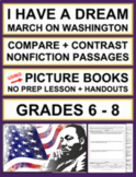 Martin Luther King Activities: Compare and Contrast Nonfiction Passages: No Prep